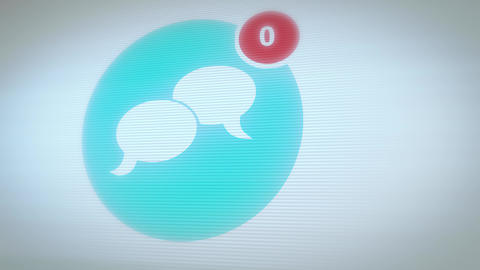Social Network Icon With Numbers Count Animation
