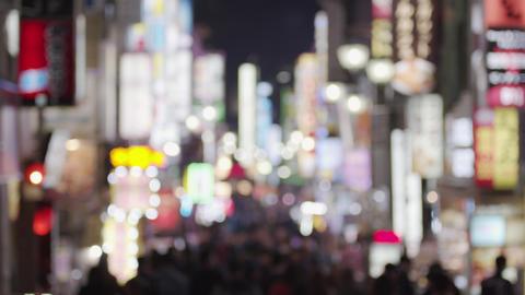 Softfocus - Night scenery of Japanese entertainment area Kabukicho Shinjuku ビデオ
