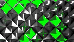 MEtalic Pyramids on Green Screen Seamless Loop Footage