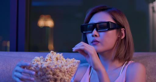 woman watch 3d intense movie Footage
