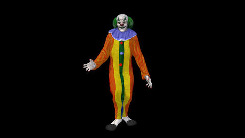 clown dances, Animation, Alpha Channel ,isolated Live Action
