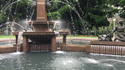 Sydney Archibald Fountain in Hyde Park Footage
