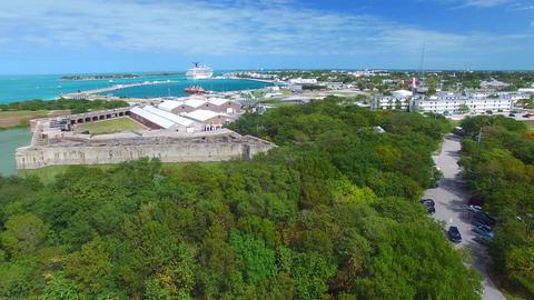 Key West Aerial Panorama stock footage