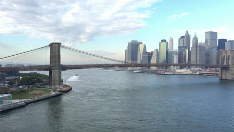Lower Manhattan and East River Footage