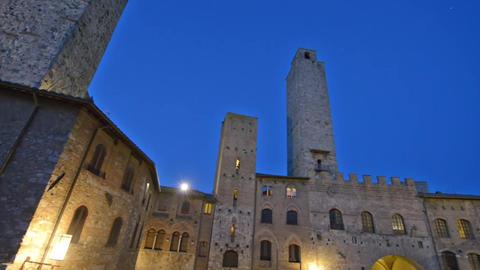 San Gimignano medieval buildings Footage
