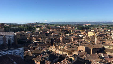 Aerial View Of Siena Dome stock footage