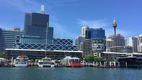 SYDNEY, AUSTRALIA - NOVEMBER 2015 : Darling Harbour on a sunny day, adjacent to  Footage