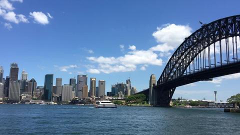 SYDNEY – NOVEMBER 2015: Sydney Harbour Panorama. Sydney attracts 10 million pe Footage