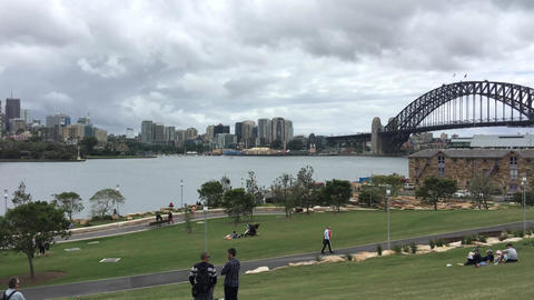 SYDNEY – NOVEMBER 2015: Sydney Harbour on a cloudy day. Sydney attracts 10 mil Footage