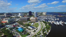 West Palm Beach, Florida. Beautiful panoramic aerial view Footage