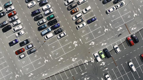 A parking from above Footage