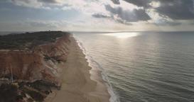 Falesia beach in Algarve Portugal Footage