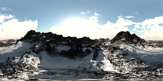 aerial vr 360 panorama of mountains. made with the one 360 degree lense camera Footage