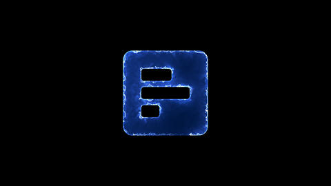 Symbol poll. Blue Electric Glow Storm. looped video. Alpha channel black Animation