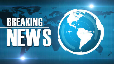Breaking News Intro TV Broadcast On Earth Background Animation