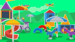 Playground cartoon medium shot Animation