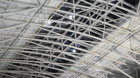 Large steel roof structure at warehouse Archivo