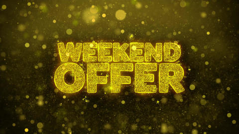 Weekend Offer Wishes Greetings card, Invitation, Celebration Firework Live Action