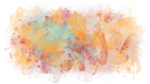 Paint of different colors spreads on a transparent background Animation