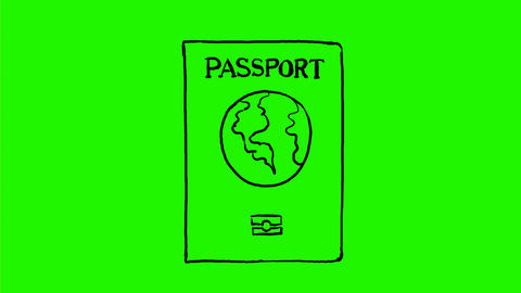 Passport Stamped With Visa Drawing 2D Animation Animation