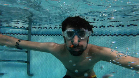 Man Jumping Under Water GIF