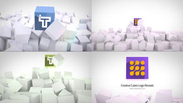 Clean Corporate Cubes Logo Reveals After Effects Template
