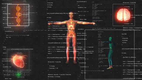 Medical male man anatomy medical hud animation ビデオ