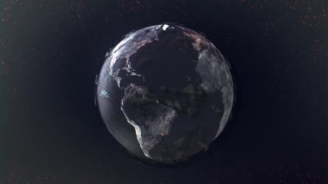 Texture view of the globe from space HD Footage