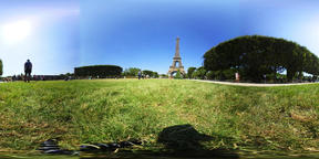 360 vr video of world famous Eiffel tower in Paris VR 360° Video