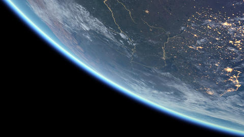 Animated view of the globe from space Footage