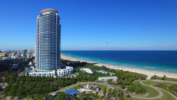 Aerial view of Miami Beach from South Pointe Park Footage