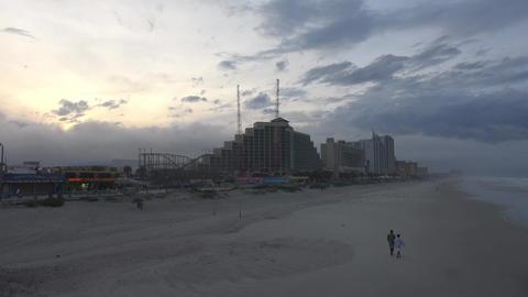 Skyline of Daytona Beach in the evening Live Action