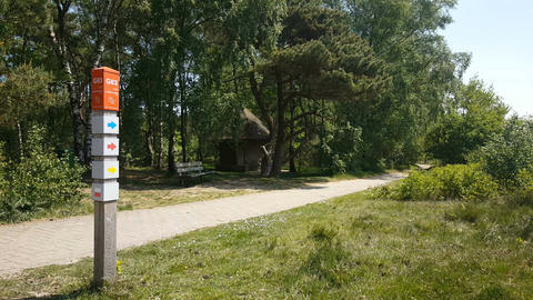National Park in Nijverdal, route sign Live Action