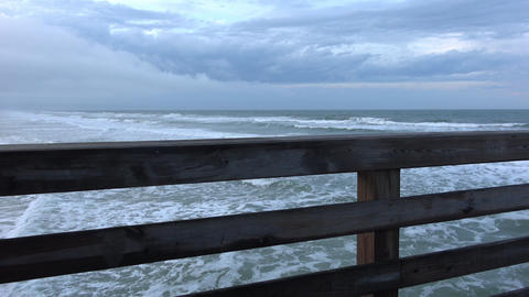 View from Daytona pier over the Atlantic Ocean Live Action