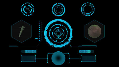 Different Sci fi hi-tech design element collection for user interface After Effects Template