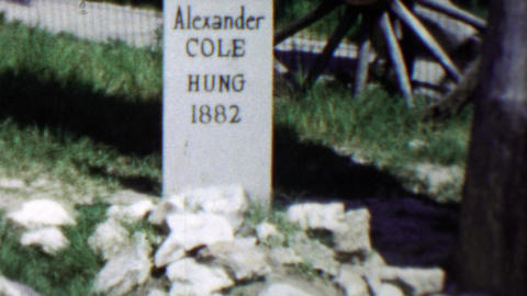 1959: Old west outlaw humor gravestones Alexander Cole Henry Callahan Footage