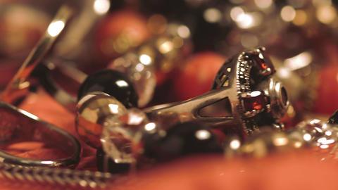 Closeups of jewelry Footage