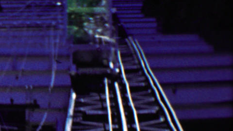 1959: Incline Railroad at Royal Gorge track small car inching along Footage