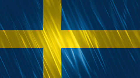 Sweden Flag Loopable Background Animation