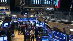 Inside New York Stock Exchange jib shot Footage