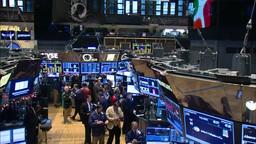 Inside New York Stock Exchange jib shot Footage