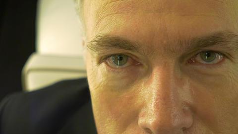 closeup of mans eyes Footage