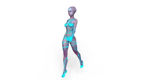 Alien Woman Stock Video Footage