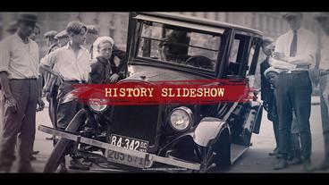 History Slideshow Premiere Proテンプレート