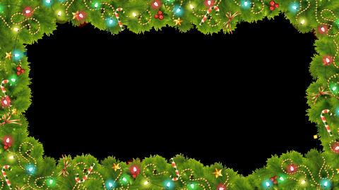 Christmas Frame with lights Alpha Animation