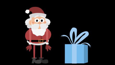 Santa Claus Animation Element 30 - unfolding gift CG動画素材