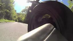 Motor Back Wheel view Footage