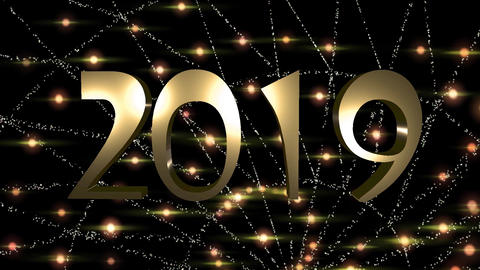 Happy New Year is a Free 2019 particles GOLD HD Video Animation