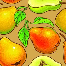 pear vector pattern ベクター