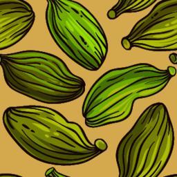 cardamom seeds vector pattern ベクター